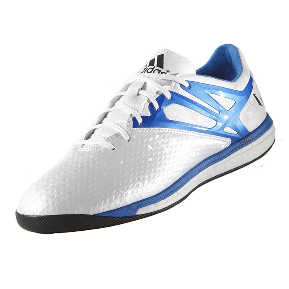 4ca614054 Messi 15.1 Boost Indoor Soccer Shoes (White Prime Blue Black ...