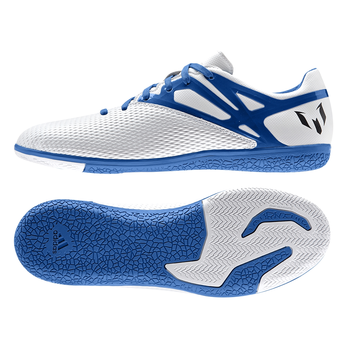 3ef568292 ... new zealand adidas messi 15.3 indoor soccer shoes white prime blue  black 6c6bc 07a4f