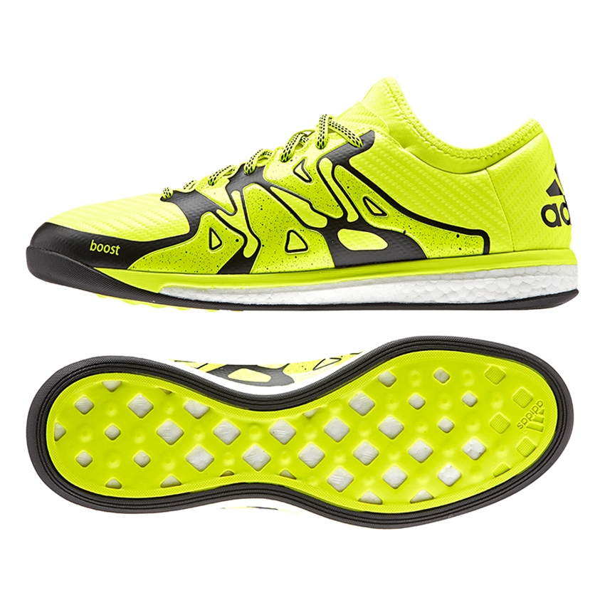 x 15 1 boost indoor soccer shoes solar yellow black frozen yellow b25497 adidas indoor. Black Bedroom Furniture Sets. Home Design Ideas