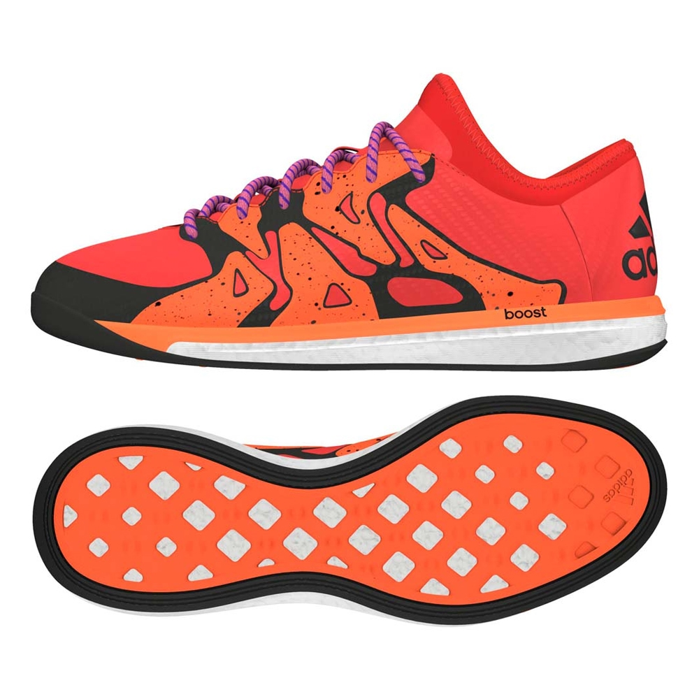 126a0e14b X 15.1 Boost Indoor Soccer Shoes (Bold Orange Black Solar Orange ...