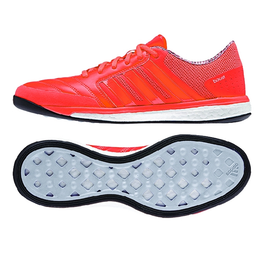 145d1a1108 Freefootball Boost Indoor Soccer Shoes (Solar Red Black White ...