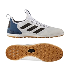Adidas ACE Tango 17.1 IC Indoor Soccer Shoes (White/Black/Mystery Blue)