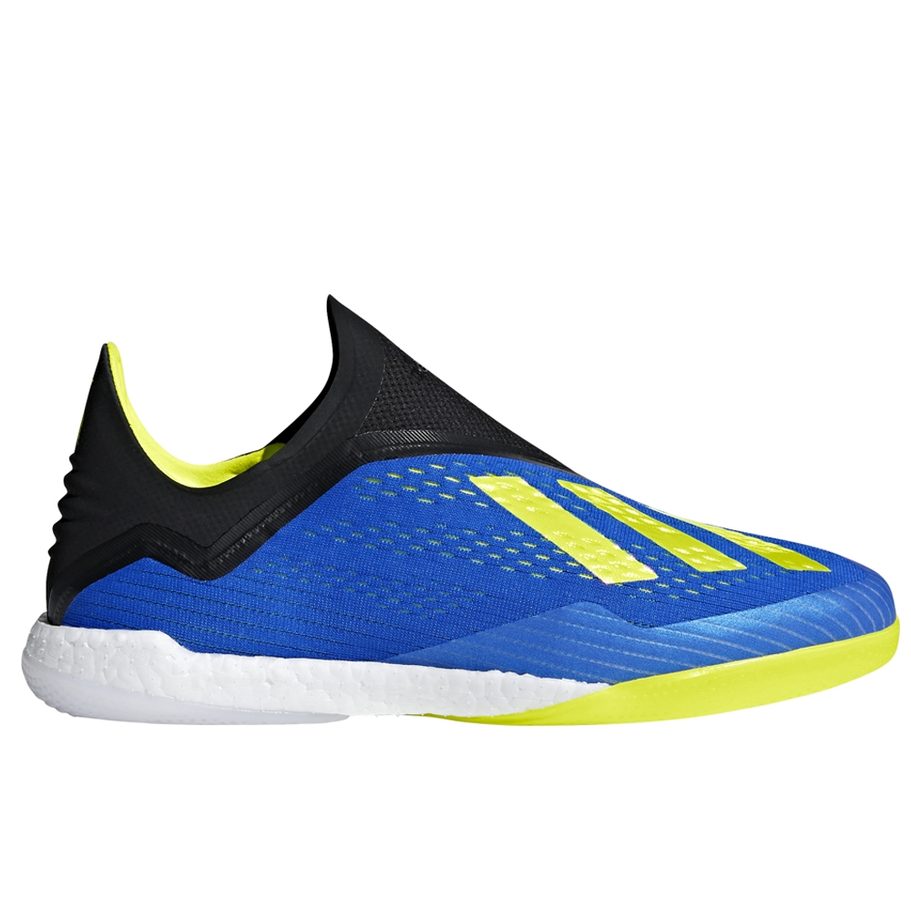 wholesale dealer 7cdec f458d Adidas X Tango 18+ Indoor Soccer Shoes (Football Blue/Solar Yellow/Black)