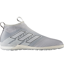 Adidas ACE Tango 17+ Purecontrol IC Indoor Soccer Shoes (Clear Grey/Onix)