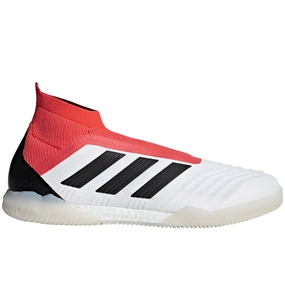 Adidas Predator Tango 18+ IC Indoor Soccer Shoes (White/Core Black/Real Coral)