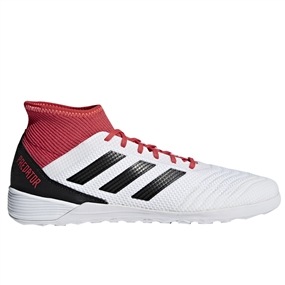 Adidas Predator Tango 18.3 Indoor Soccer Shoes (White/Core Black/Real Coral)