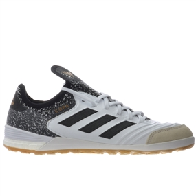 Adidas Copa Tango 18.1 Indoor Soccer Shoes (White/Core Black/Tactile Gold Metallic)
