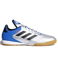 Adidas Copa Tango 18.3 Indoor Soccer Shoes (Silver Metallic/Black/Football Blue)