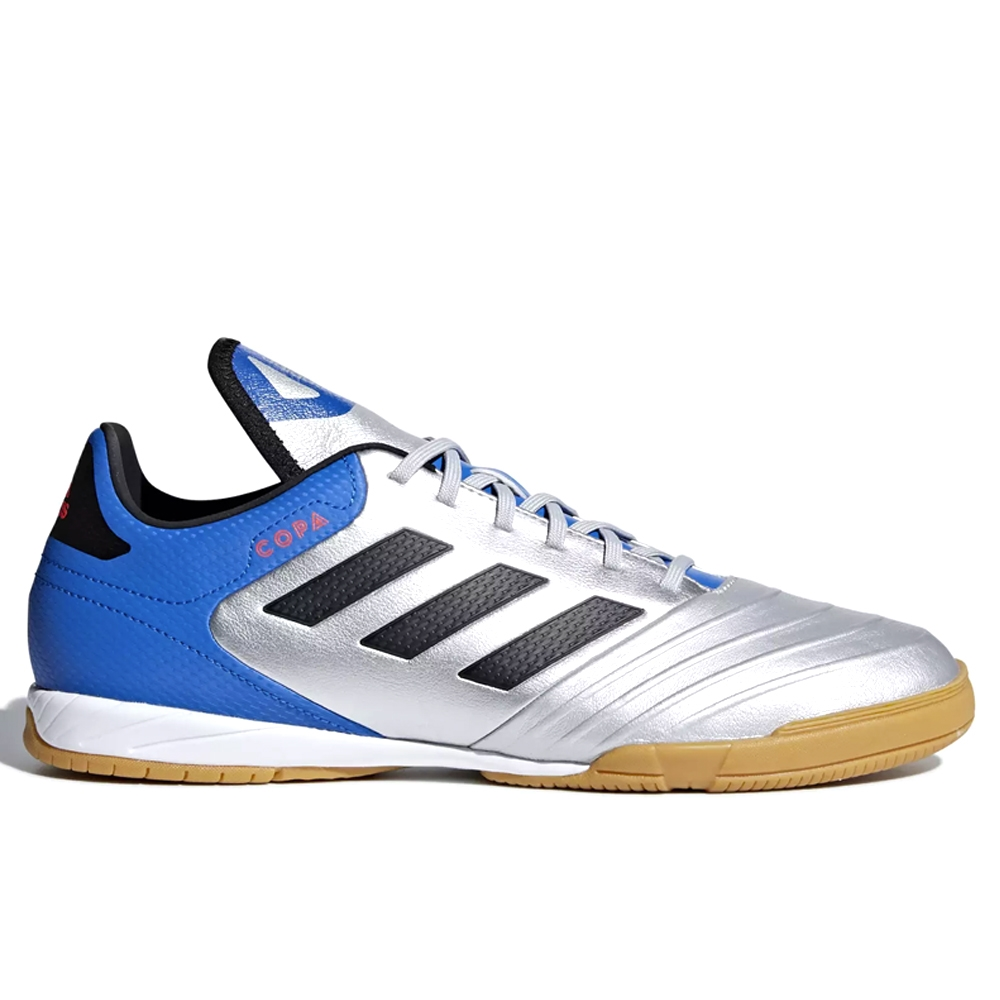 outlet store sale reliable quality best place Adidas Copa Tango 18.3 Indoor Soccer Shoes (Silver Metallic/Black/Football  Blue)