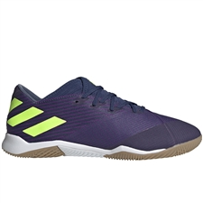Adidas Nemeziz Messi 19.3 IC Indoor Soccer Shoes (Tech Indigo/Signal Green/Glory Purple)