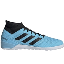 Adidas Predator 19.3 Indoor Soccer Shoes (Bright Cyan/Core Black/Solar Yellow)
