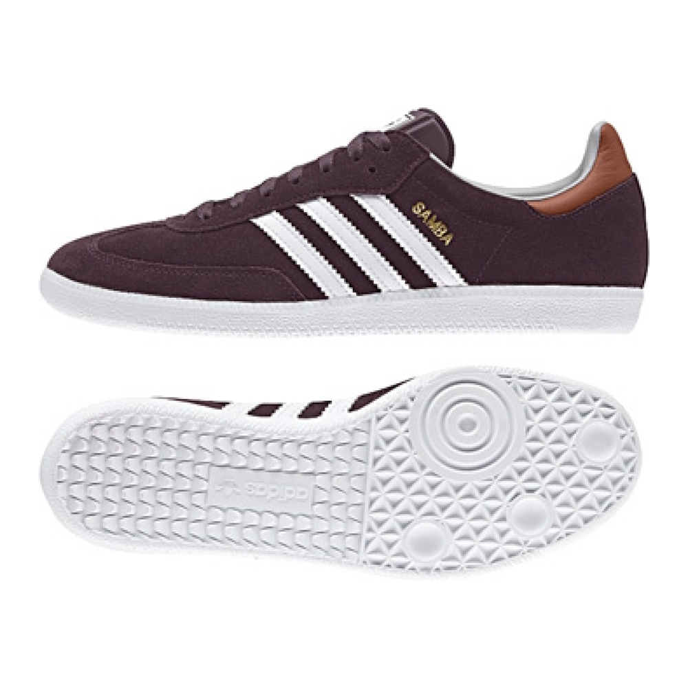 various colors online for sale separation shoes Adidas Samba Originals Indoor Soccer Shoe (Purple)