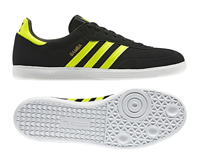 online here top design coupon code Adidas Samba Originals Indoor Soccer Shoe (Black/Electricity/White)