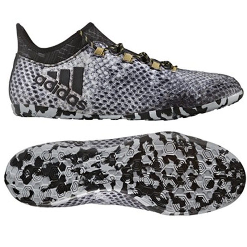adidas shoes black and white. adidas x 16.1 court indoor soccer shoes (white/black/gold) black and white n