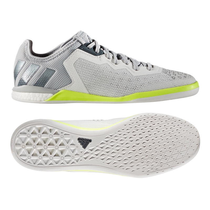 099c5533e380 Adidas ACE 16.1 Court Soccer Shoes (Crystal White Onix Solar Yellow ...