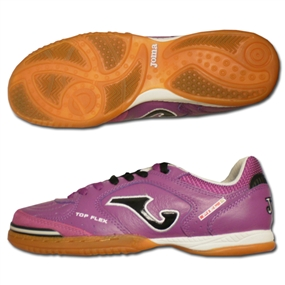 Joma Top Flex Indoor Soccer Shoes (Purple/Black/White)