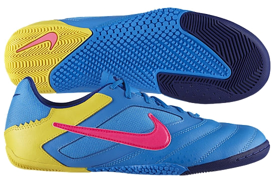 7c1083ccb Nike5 Elastico Pro Indoor Soccer Shoes (Blue Glow Pink Flash-Chrome Yellow)