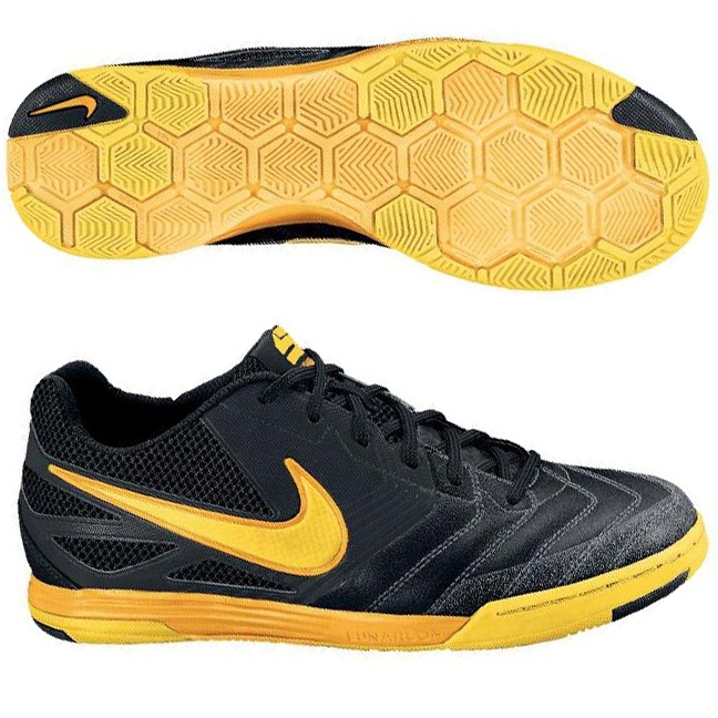 Nike5 Lunar Gato Indoor Soccer Shoes in Black and Yellow  9228478cbc9