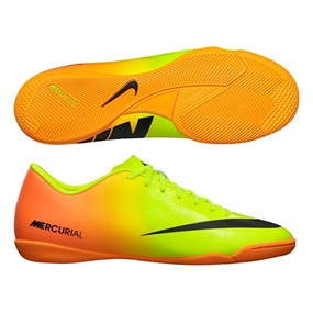Nike Mercurial Victory IV Indoor Soccer Shoes (Volt/Black/Bright Citrus)