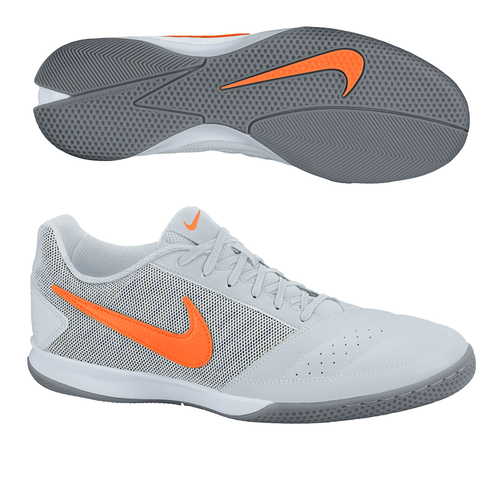 lowest price ecf6c 4dbb3 ... Nike FC247 Gato II Indoor Soccer Shoes (Pure PlatinumWhiteCool  GreyTotal Orange) 66052 Nike FC247 Lunar ...