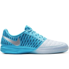Nike LunarGato II Indoor Soccer Shoes (Half Blue/Metallic Silver/Blue Fury)