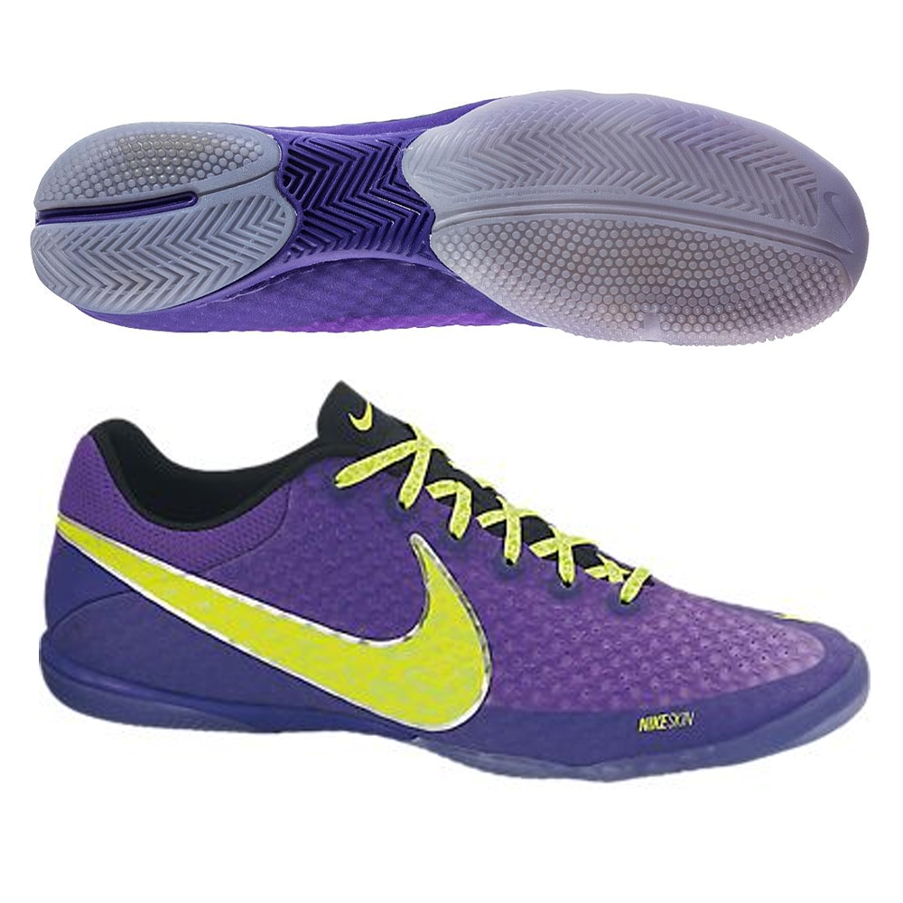 8db2599893b Nike FC247 Elastico Finale II Indoor Soccer Shoes (Pure Purple Electric  Green Volt