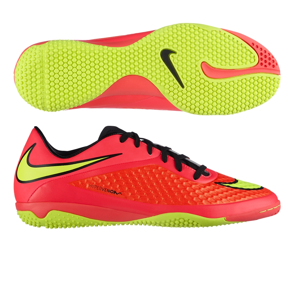 the latest 6591f c9659 Nike Hypervenom Phelon IC Indoor Soccer Shoes (Bright Crimson/Volt)