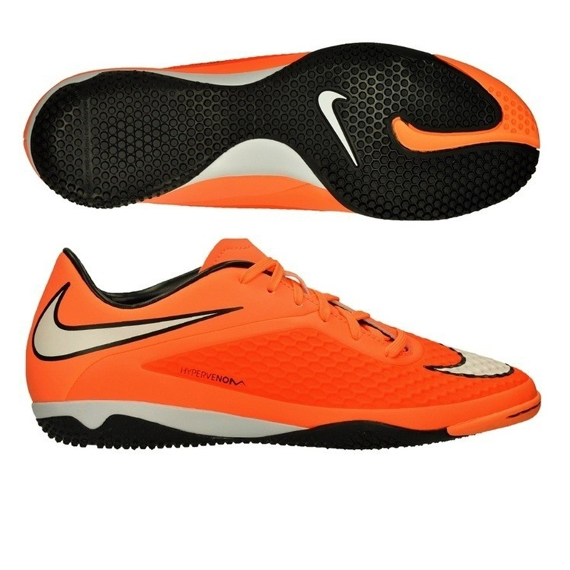 Nike Hypervenom Phelon IC Indoor Soccer Shoes (Hyper Crimson/Black/Atomic  Orange/