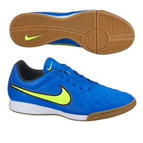 Nike Tiempo Genio IC Indoor Soccer Shoes (Soar/Volt)