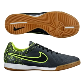 Nike Tiempo Legacy IC Indoor Soccer Shoes (Anthracite/Black/Volt)