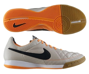 Nike Tiempo Legacy Indoor Soccer Shoes (Desert Sand/Atomic Orange/Black)