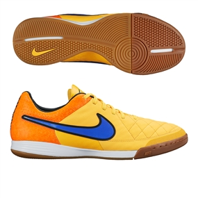 Nike Tiempo Legacy IC Indoor Soccer Shoes (Laser Orange/Total Orange/Volt/Persian Violet)