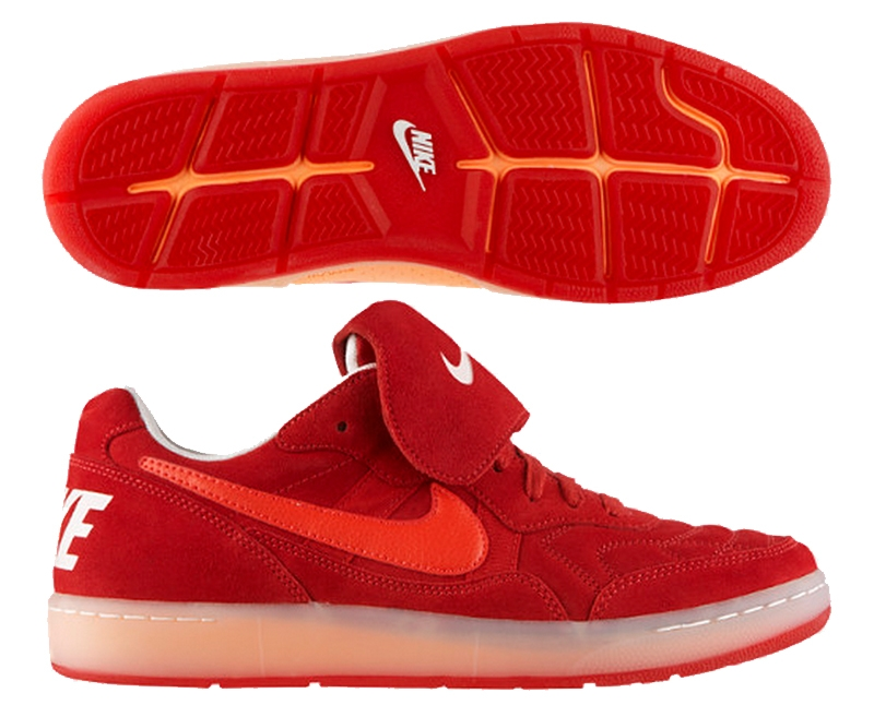 premium selection 01287 9fca2 Nike Tiempo 94 Low Indoor Soccer Shoes (Gym Red Sail Atomic Orange