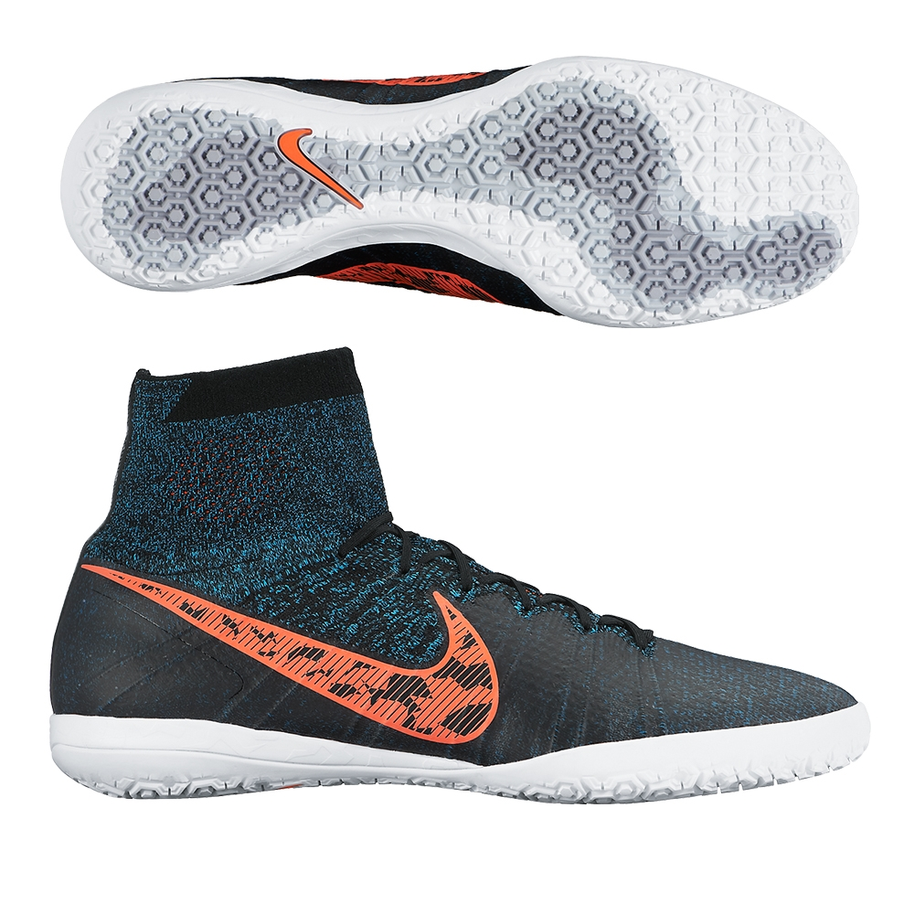 Provide Nike Elastico Superfly Ic - Black / Blue Lagoon / Dark Grey / Total Crimson Footwear