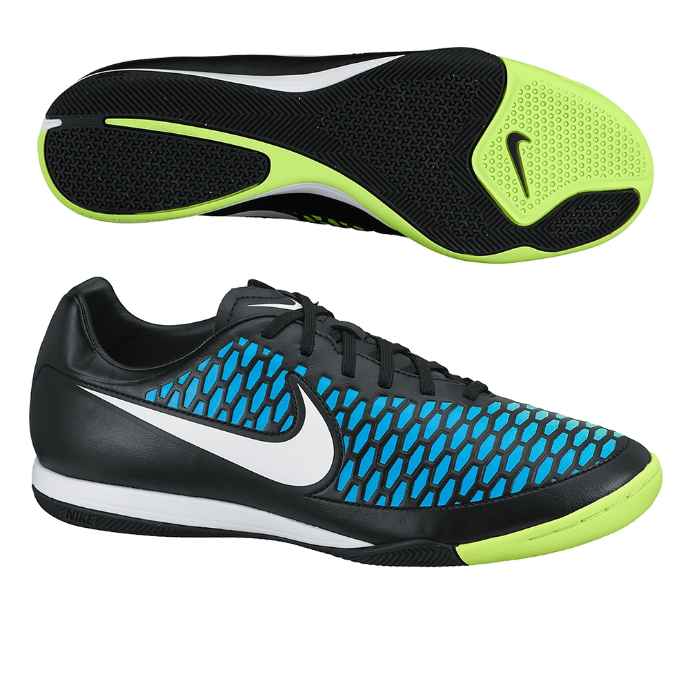 Nike Magista Onda IC Indoor Soccer Shoes (Black/Blue Lagoon/Volt/White