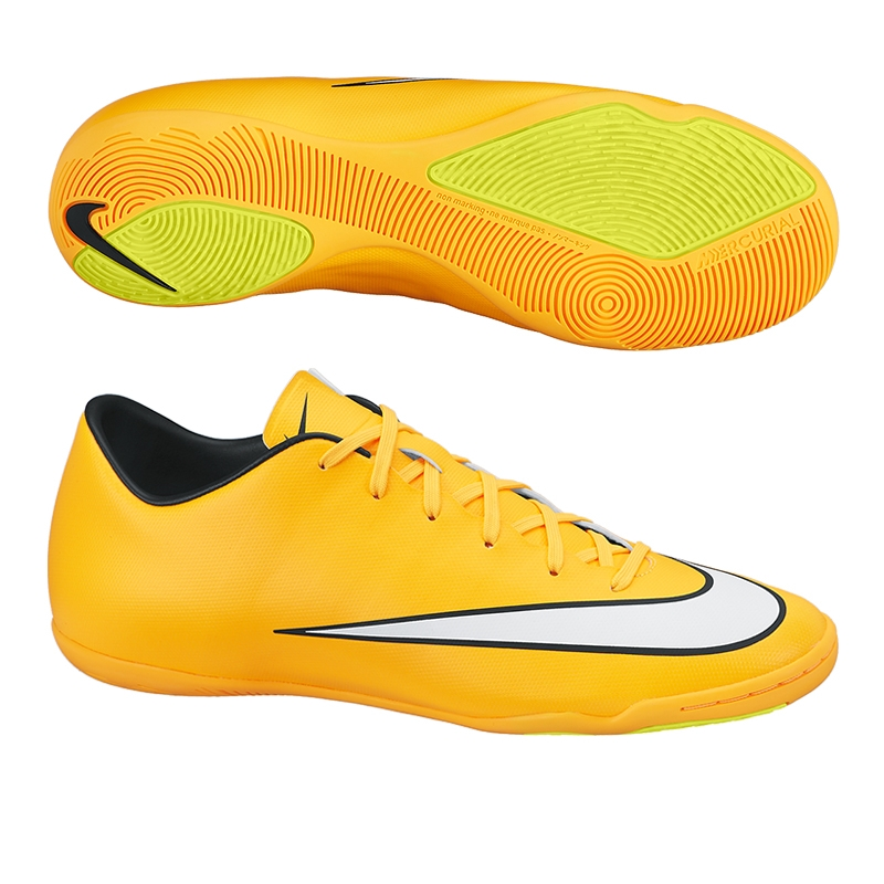 Nike Mercurial Victory V Indoor Soccer Shoes (Laser Orange Black Volt White aca15884cc60