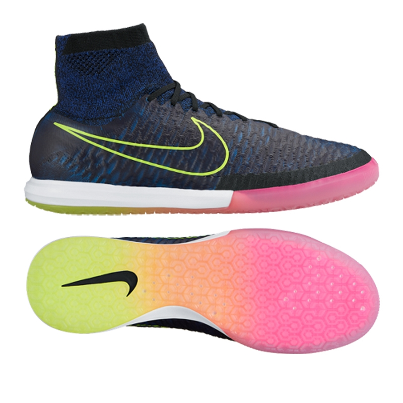 Nike MagistaX Proximo Street IC Indoor Soccer Shoes (Black/Volt/Racer Blue/
