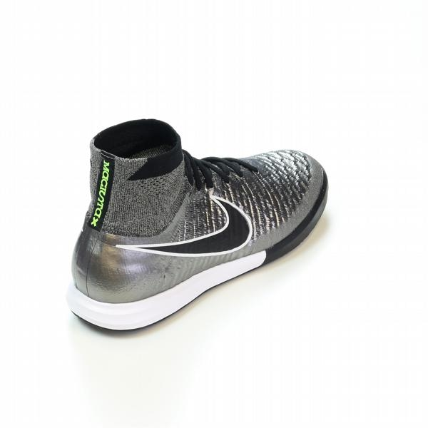 Nike MagistaX Proximo IC Indoor Soccer Shoes Metallic PewterWhiteBlack