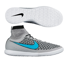 Nike MagistaX Proximo IC Indoor Soccer Shoes (Wolf Grey/Black/Turquoise Blue)