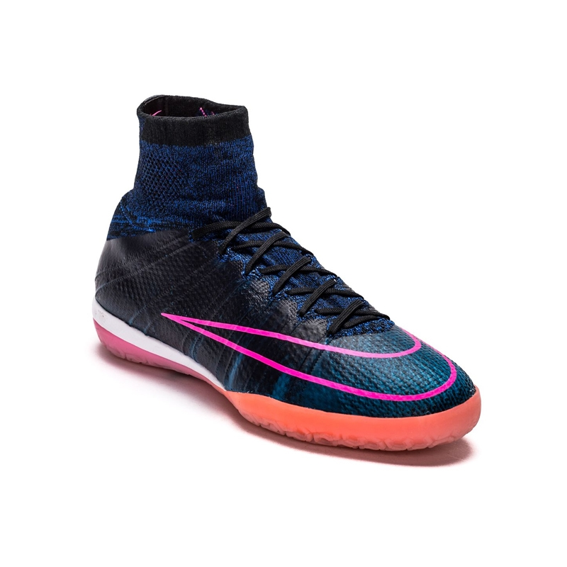 b61801408 Nike MercurialX Proximo Street IC Indoor Soccer Shoes (Black Pink Blast Racer  Blue)