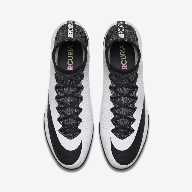 pretty nice 9ce8d 258d2 Nike MercurialX Proximo Street IC Indoor Soccer Shoes (White Black)