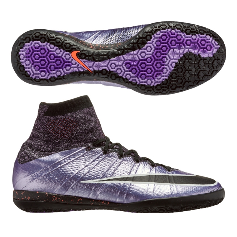 Nike MercurialX Proximo IC Indoor Soccer Shoes (Urban Lilac/Bright Mango/ Black)