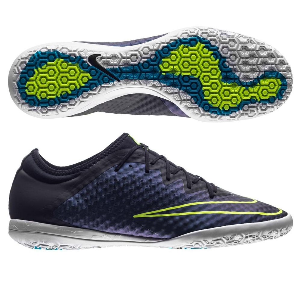 check out 2c9f9 74d4e Nike MercurialX Finale IC Indoor Soccer Shoes (Squadron Blue/Volt/Black)