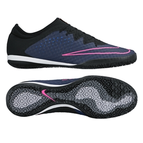 Nike MercurialX Finale Street IC Indoor Soccer Shoes (Midnight Navy/Pink Blast)