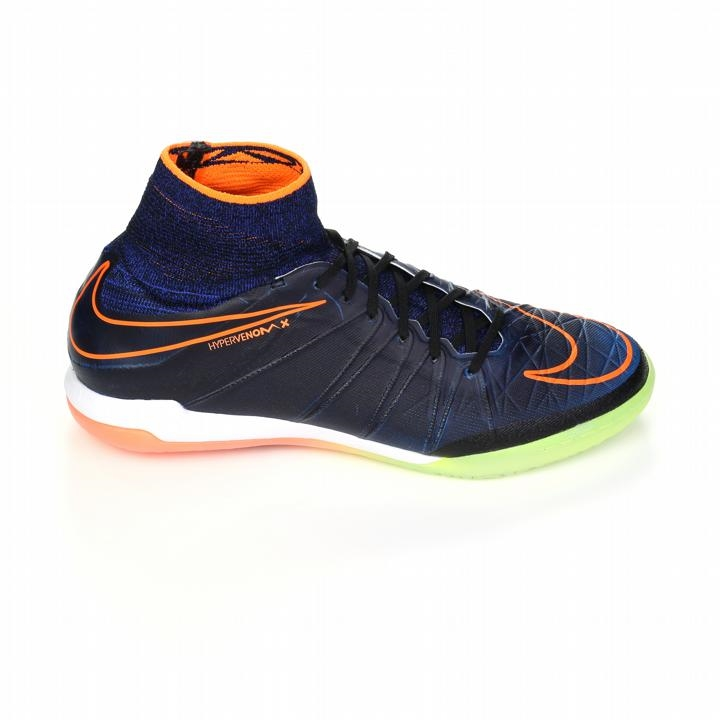 0324fbfe8849 Nike HypervenomX Proximo Street IC Indoor Soccer Shoes (Black Total  Orange Racer Blue Black)