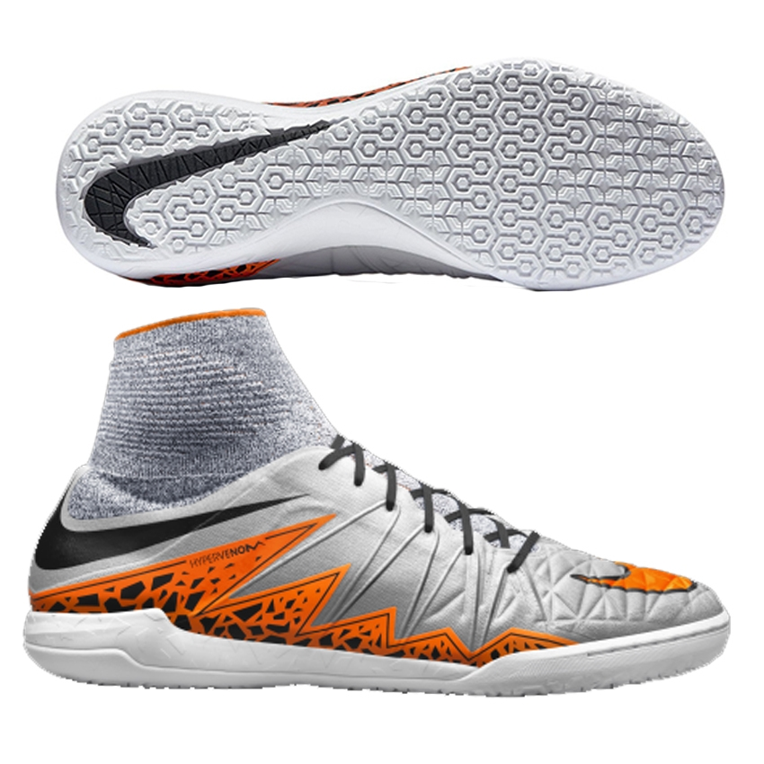 quality design 7a774 0e71c Nike HypervenomX Proximo IC Indoor Soccer Shoes (Wolf Grey/Black ...