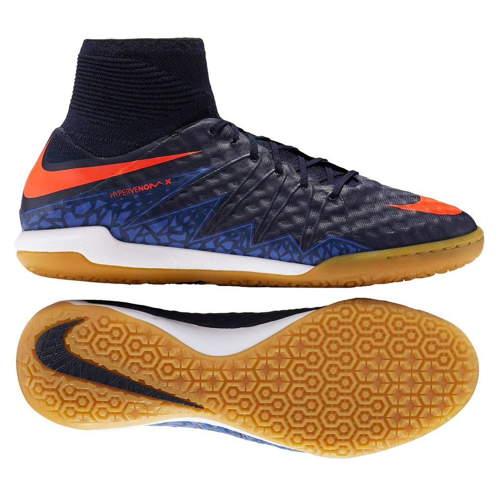 Nike HypervenomX Proximo IC Indoor Soccer Shoes (Obsidian/Total  Crimson/Coastal Blue)