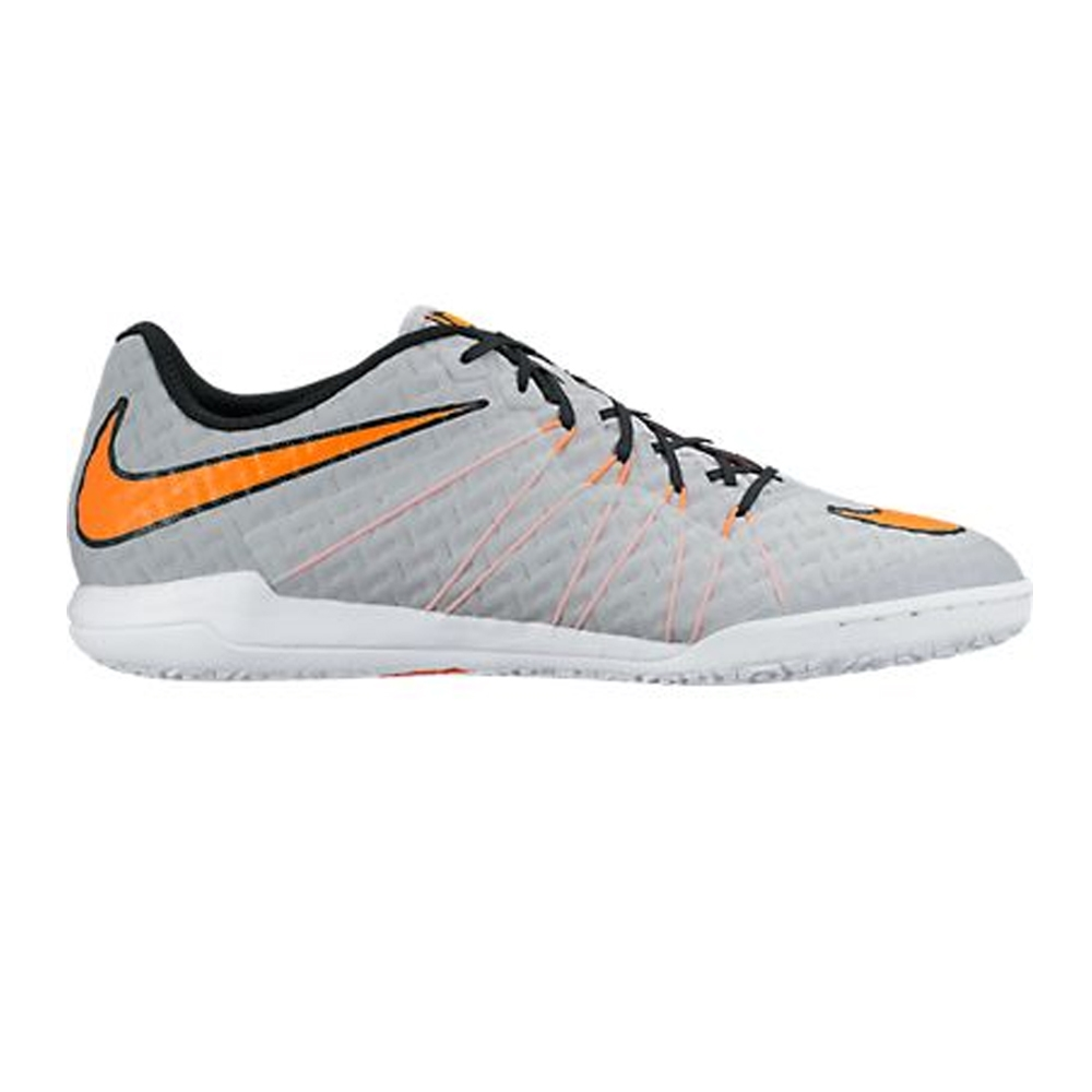 Nike HypervenomX Finale IC Indoor Soccer Shoes Wolf Grey Black Total  Orange
