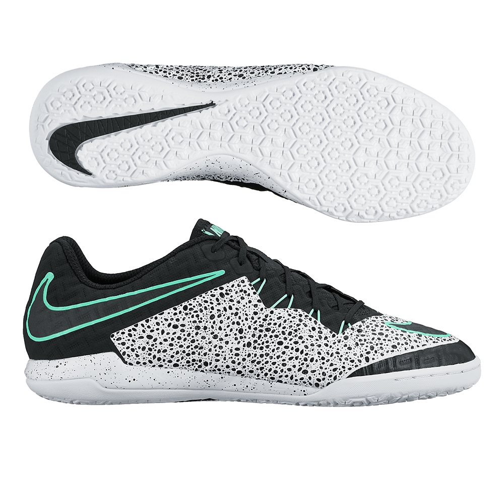 Nike HypervenomX Finale Street IC Indoor Soccer Shoes (White/Green Glow/ Black)