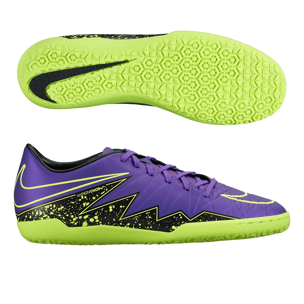 55ebe70a6 Nike Hypervenom Phelon II IC Indoor Soccer Shoes (Hyper Grape Black ...